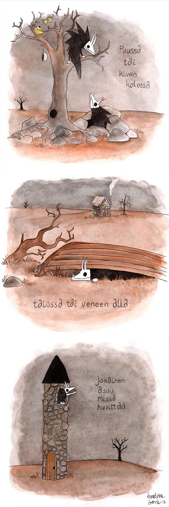 Luunaamat - Koti by Aneesan
