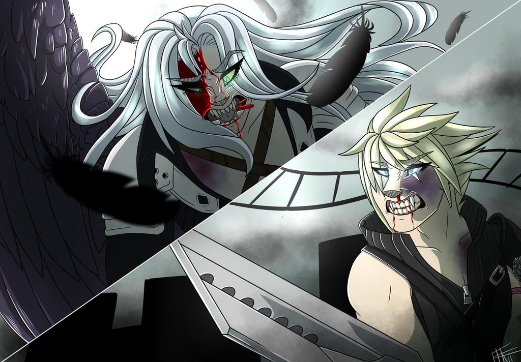 Cloud vs Sephiroth (2018 redraw)  by TsubasaTheNightFury
