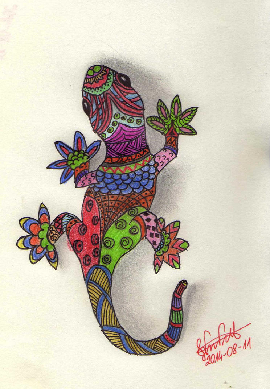 Doodle of lizard by lestat1991