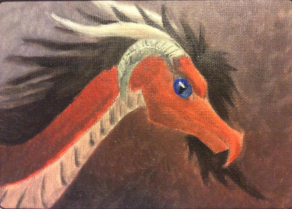 Dragon oil paint 2013 by Rainsworld47