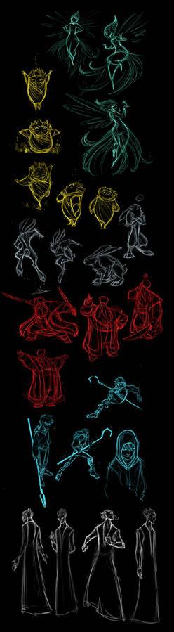 Guardians rough sketches