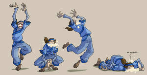 Avatar- crazy foamy guy by rufftoon
