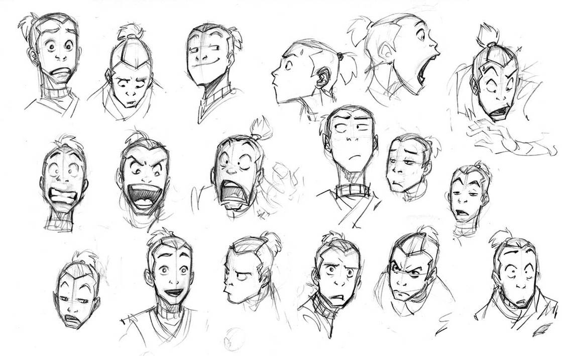 Sketch 03 Sokka Practice by rufftoon