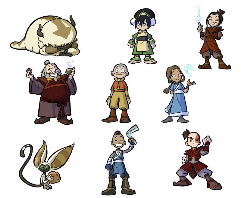 Avatar redesigns for fun