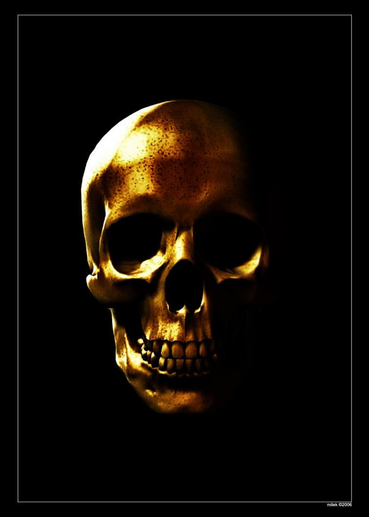 gold skull by ka mil on deviantart. Black Bedroom Furniture Sets. Home Design Ideas