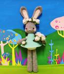 custom bridal bunny dolly