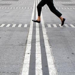 A Latecomer's Cross Walk by djailledie