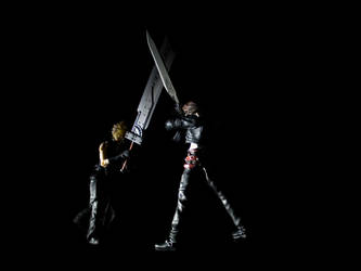 Cloud and Squall Fighting