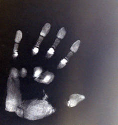 Inverted hand print 2 by zpyder
