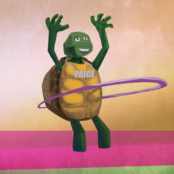 Hulahooping turtle for Paige.
