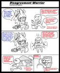 Disagreement Warrior +Parody comic+