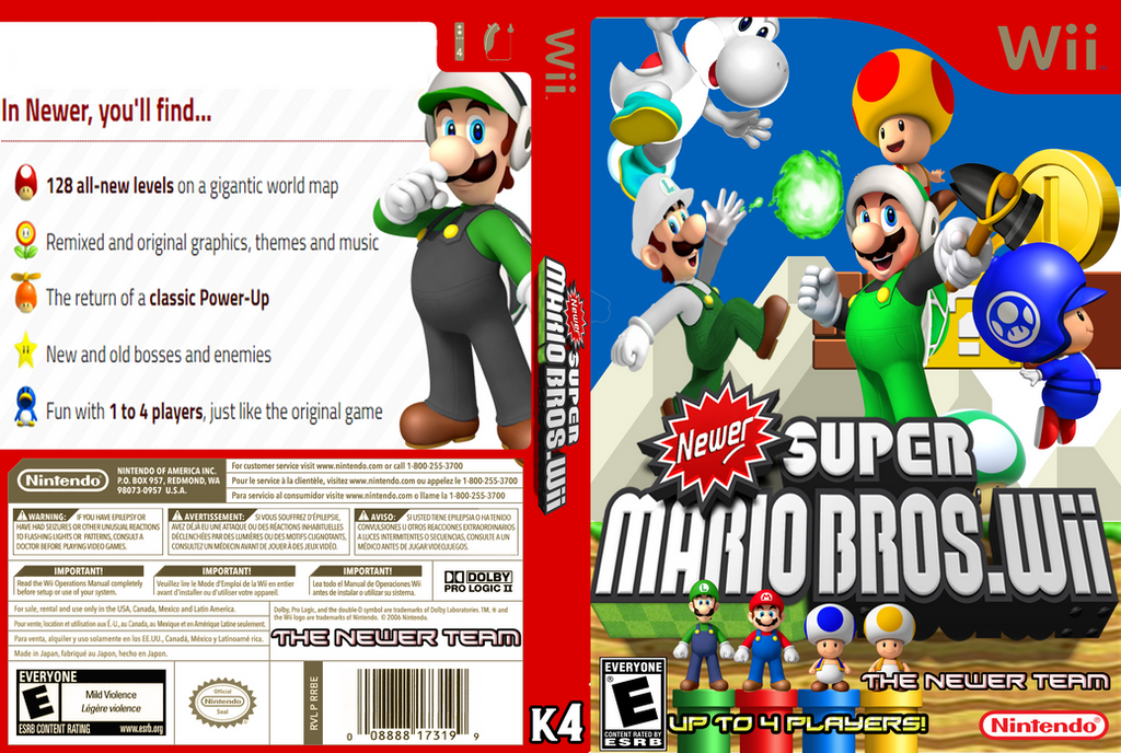 newer super mario bros wii world 4