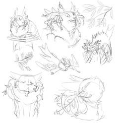 R001Grosbeak Sketch Page