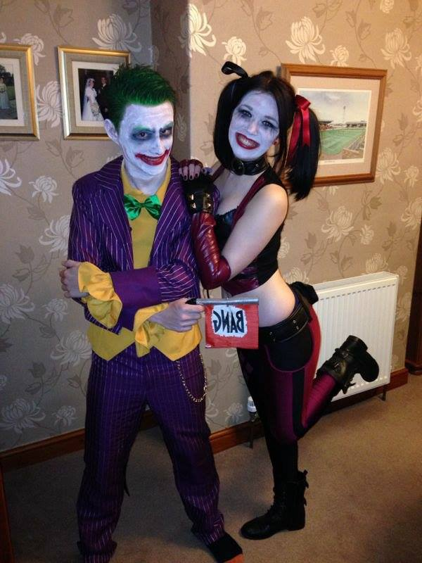 Joker and Harley Quinn cosplay by Yelyah-x
