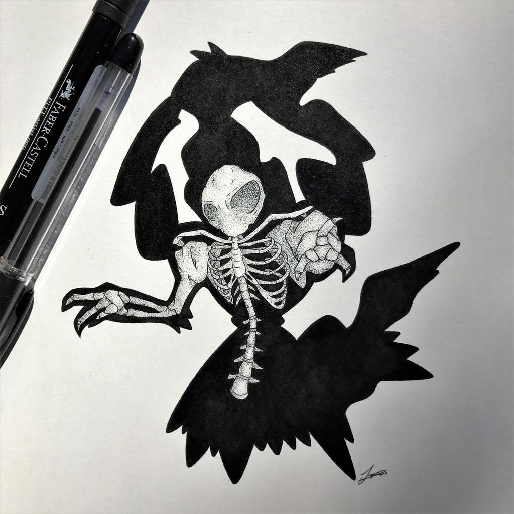 Skeletal Darkrai Updated! by WolfJayden