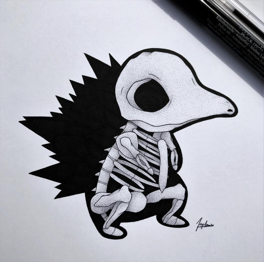 Skeletal Cyndaquil by WolfJayden