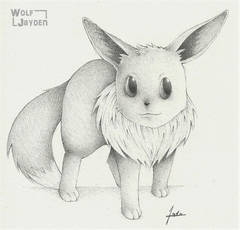 Realistic Eevee by WolfJayden
