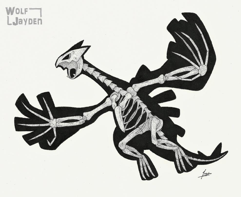 Skeletal Lugia by WolfJayden