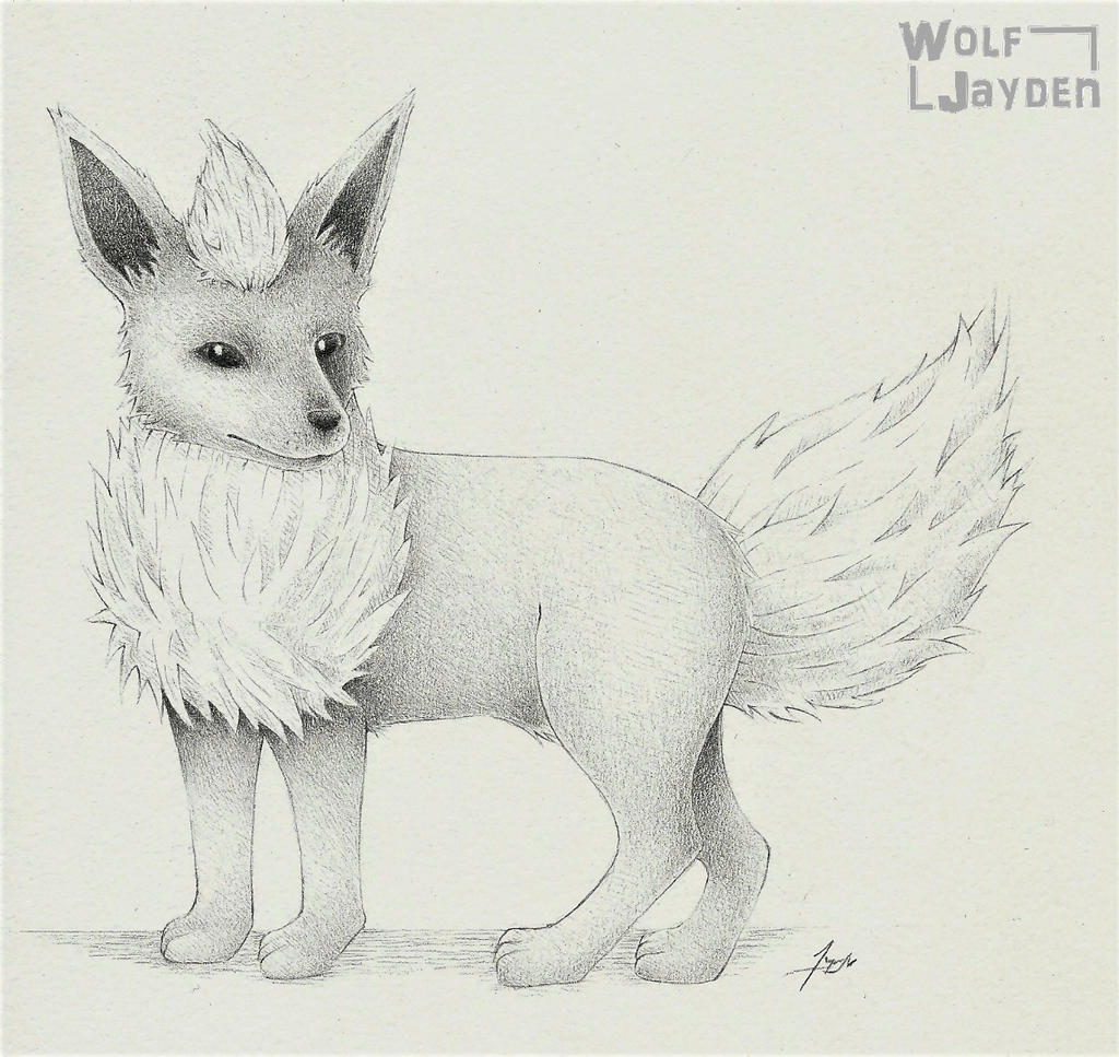 Realistic Flareon by WolfJayden