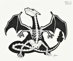 Skeletal Charizard by WolfJayden