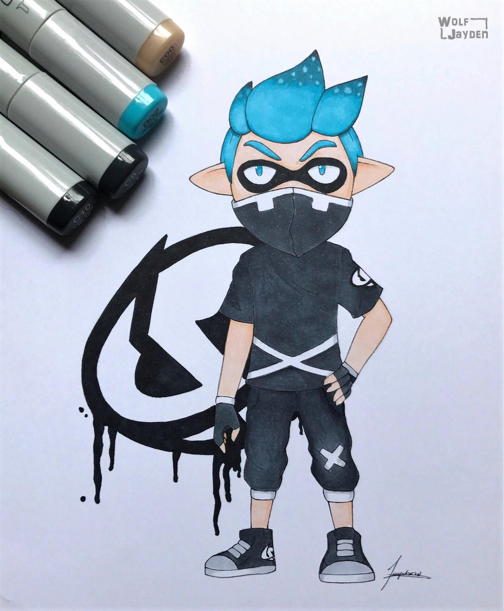 Team Skull Inkling Boy by WolfJayden