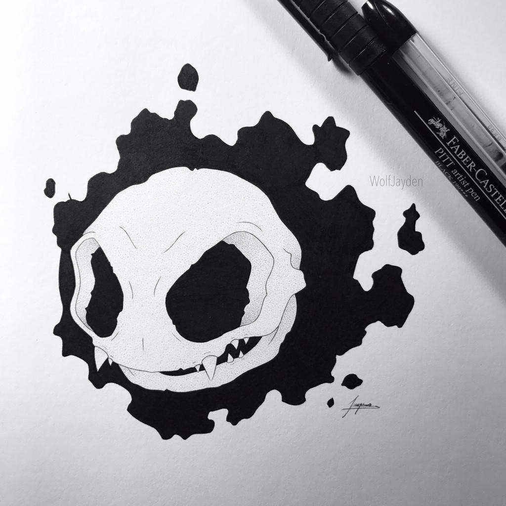 Skeletal Gastly by WolfJayden