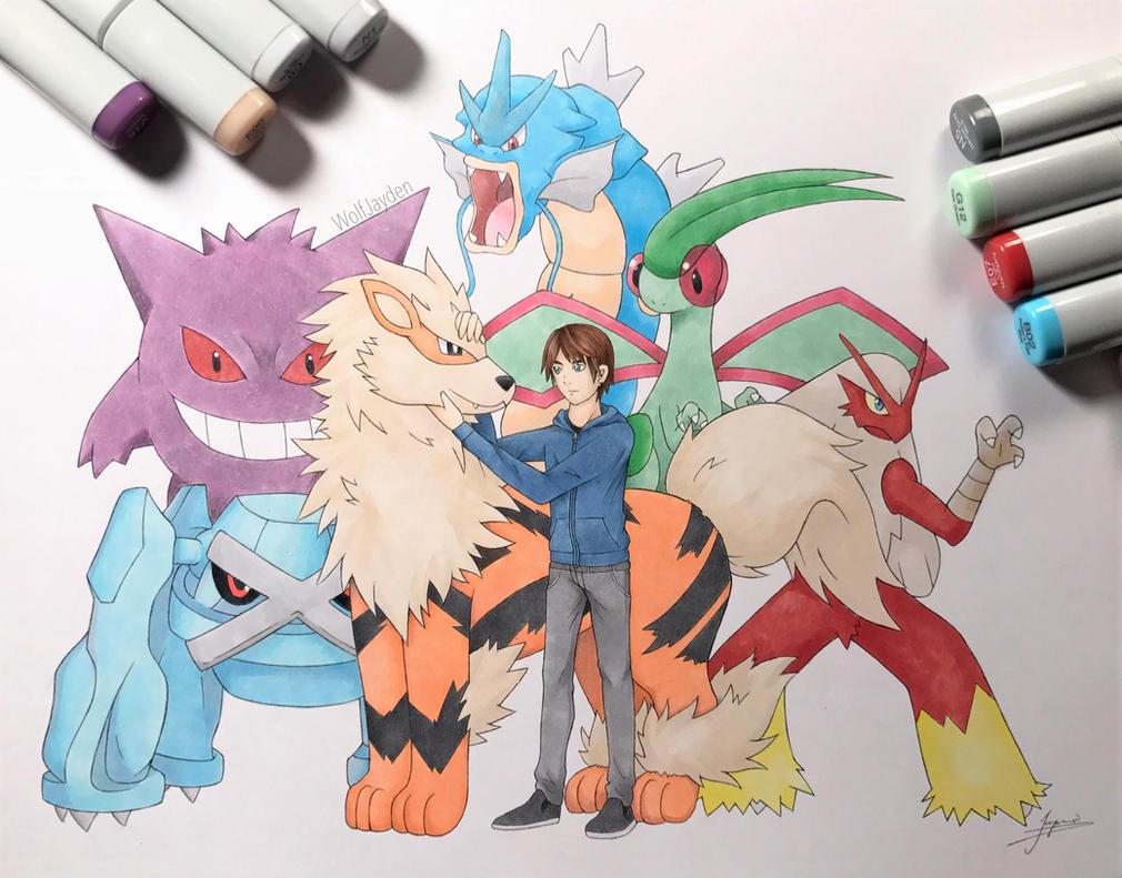 Pokemon Team - Gift for a Friend by WolfJayden