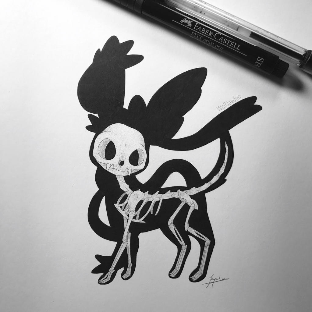 Skeletal Sylveon by WolfJayden