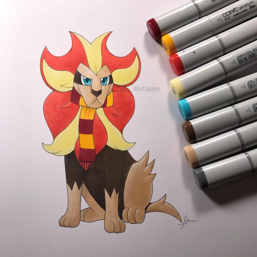 Gryffindor Pyroar by WolfJayden
