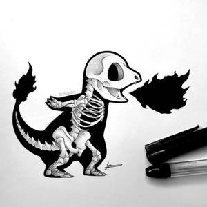 Skeletal Charmander (v2)