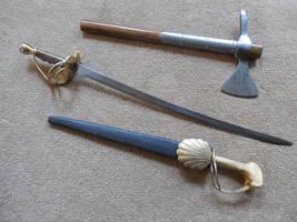 Spanish Boarding Axe, Custom Cutlass and Dagger by WillKing156