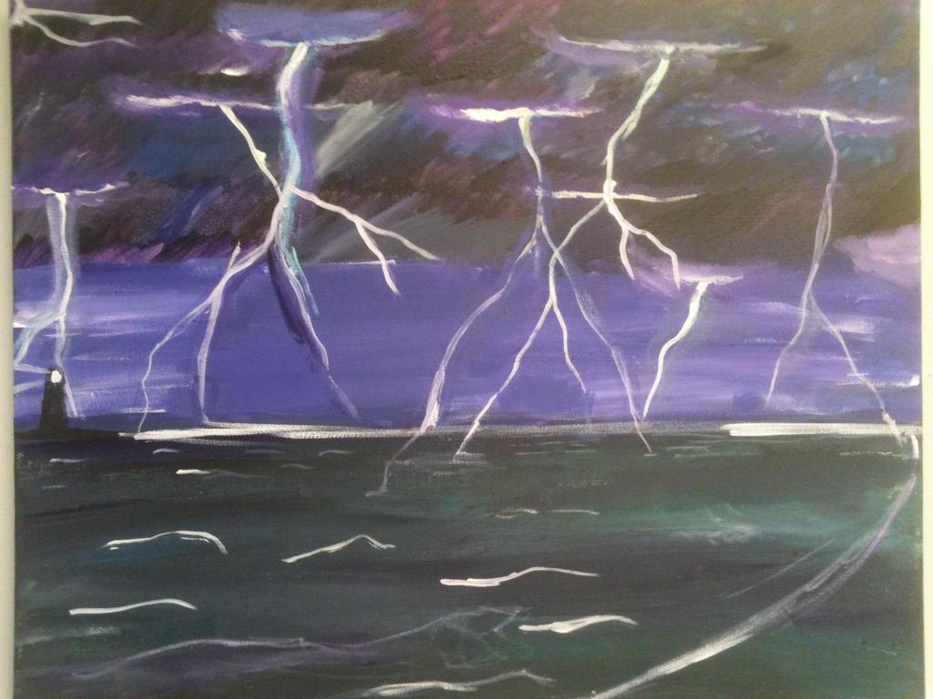 Art Class Project: lightning storm by KBeezy52