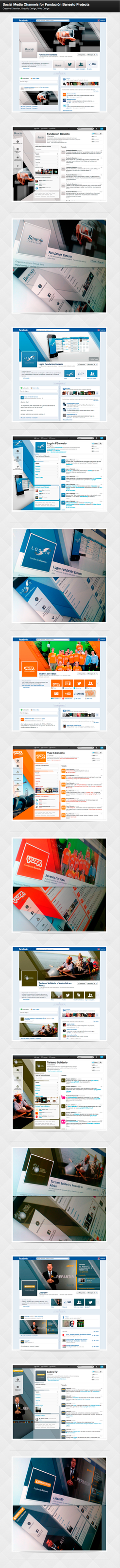Social Media Channels for Banesto Fundation by badendesing