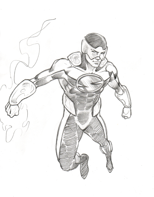 superhero drawing