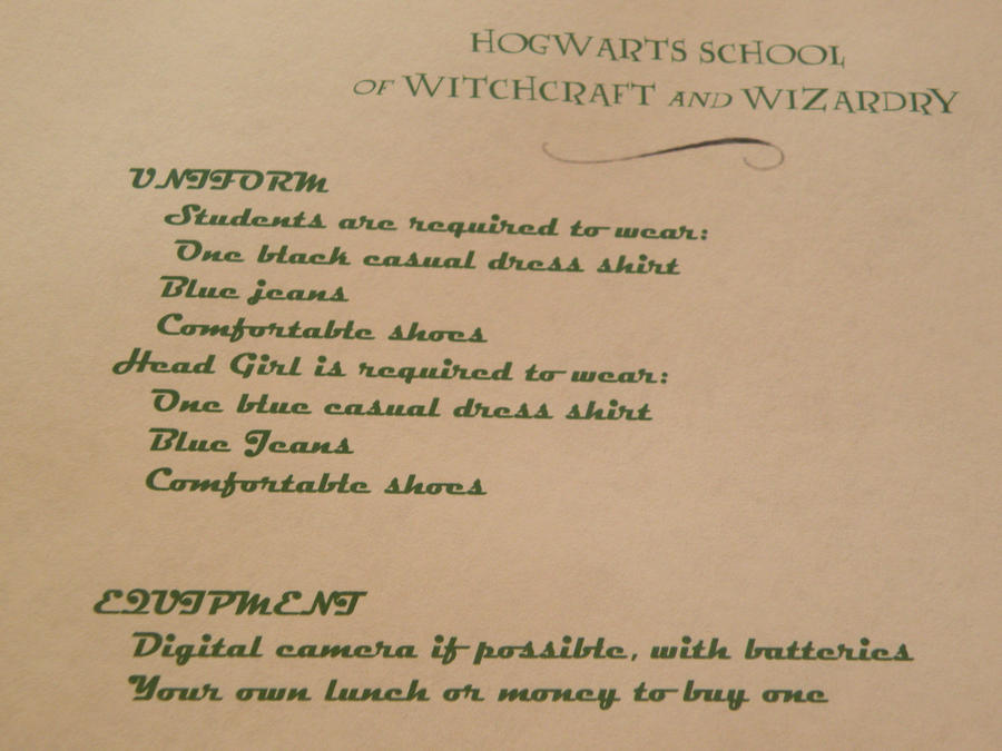Hogwarts Invitation Letter 2 by KShasta11 on DeviantArt