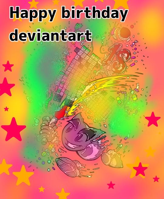Happy 18th Birthday Deviantart by GBMelendez23k