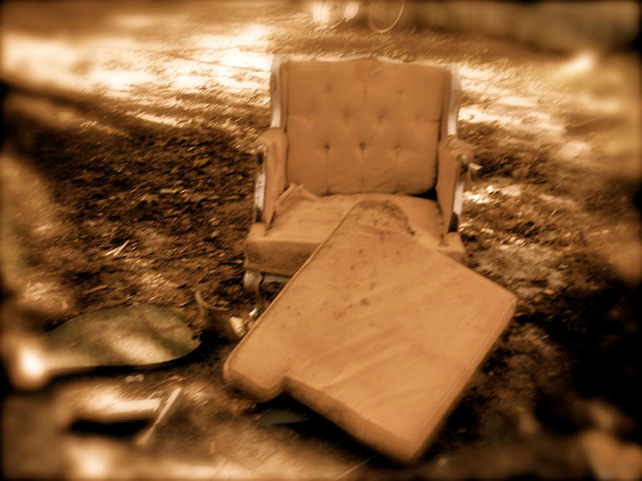 A Lonely Orange Armchair