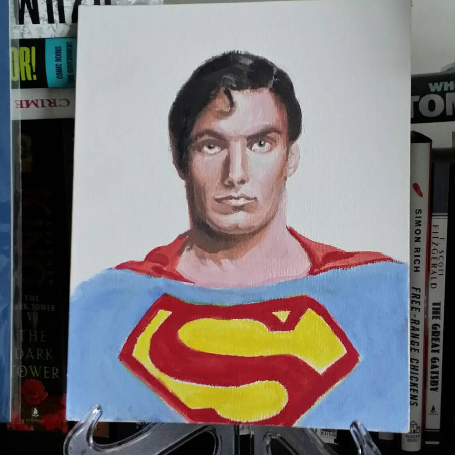 Portrait of Christopher Reeves by JimmyChang83