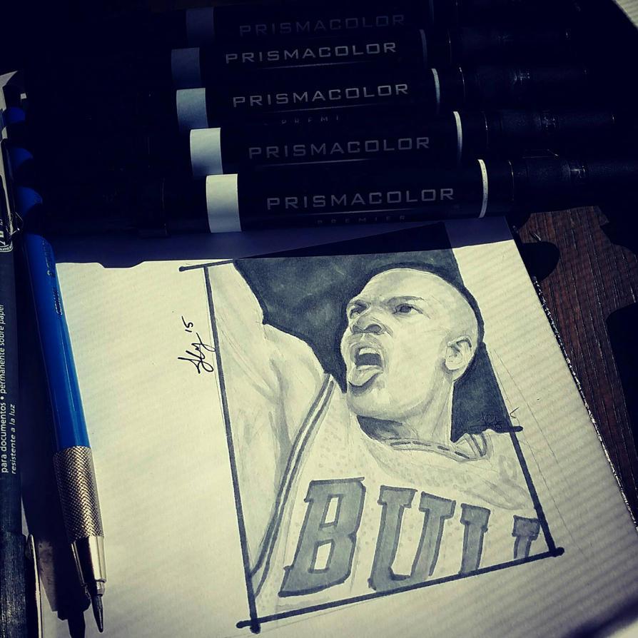Michael Jordan portrait by JimmyChang83