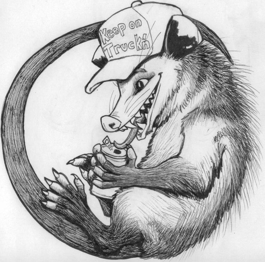 Opossum Trucker by StephanieAKAfany