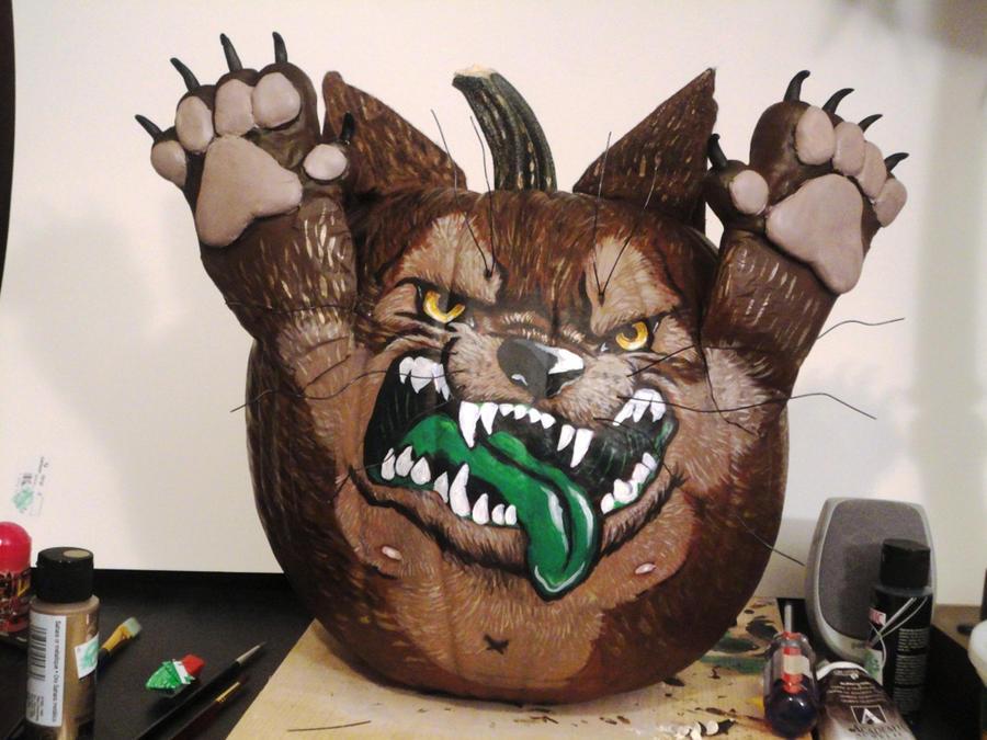 Pumpkin Werewolf by StephanieAKAfany