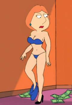 Lois in blue