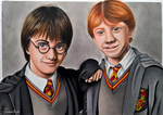 Harry and Ron by Jaenelle-20