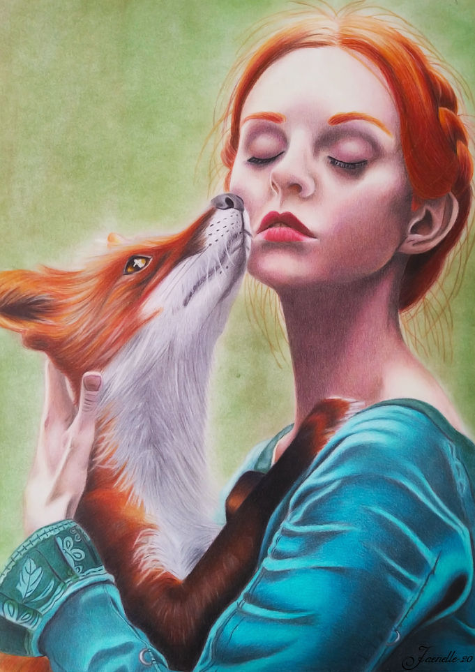 Girl and fox by Jaenelle-20