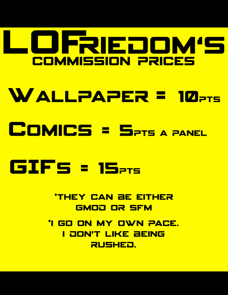 LOFreidom's Commissions Prices by LOFreidom