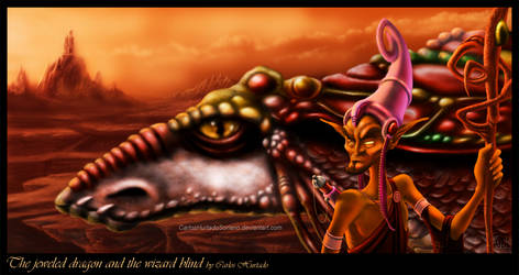 JEWELED DRAGON AND THE WIZARD by CarlosHurtadoSoriano