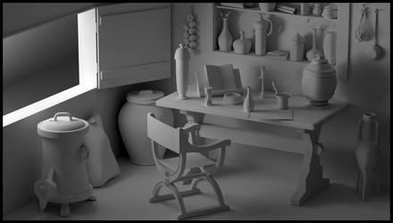 WIP - The Alchemist's Room by CarlosHurtadoSoriano