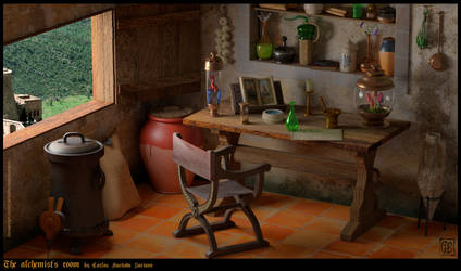 The Alchemist's Room by CarlosHurtadoSoriano