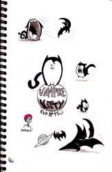 Vampire Kitty n Spacebat by tmalo70