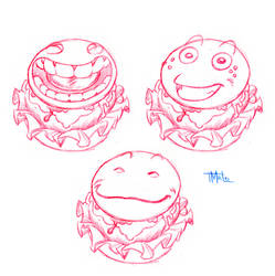 Happy CheeseBurger Sketches